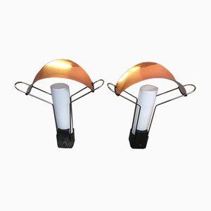 Lámparas de mesa Palio de Perry King & Santiago Miranda para Arteluce, años 80. Juego de 2
