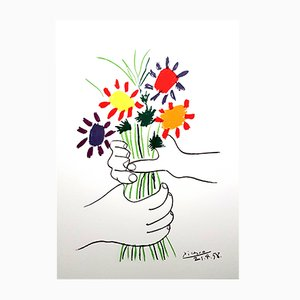 Litografia Colorful Flowers di Pablo Picasso, 1958