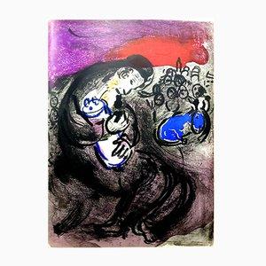 Lithographie Originale de La Bible par Marc Chagall, 1956