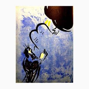 Moses Lithografie von Marc Chagall, 1956