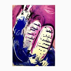 Litografía Moses Original de Marc Chagall, 1956