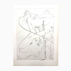 Venus in Furs Original Stamp-Signed Etching by Salvador Dali, 1968