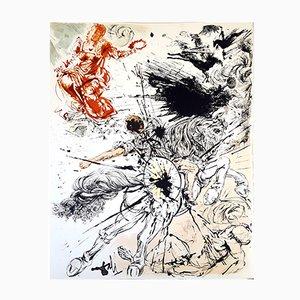 Litografia Don Chisciotte originale di Salvador Dali, 1957