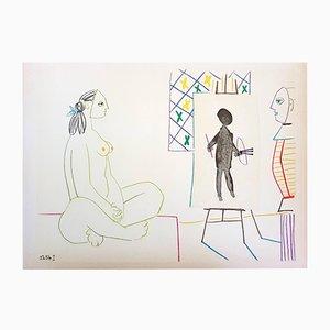 Lithographie La Comédie Humaine par Pablo Picasso, 1954