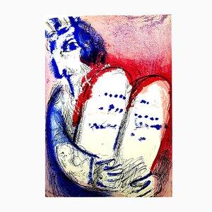 Lithographie Tablettes en Pierre par Marc Chagall, 1956