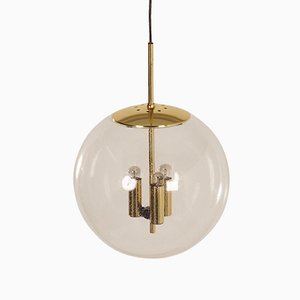 Glass Ball Pendant from Glashütte Limburg, 1970s
