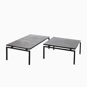 Slate Stone Coffee Tables, 1960s, Set of 2