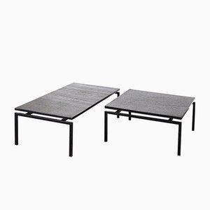 Tables Basses en Ardoise, 1960s, Set de 2