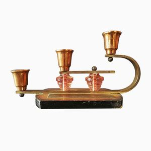 Französische Art Deco Kerzenhalter, 2er Set