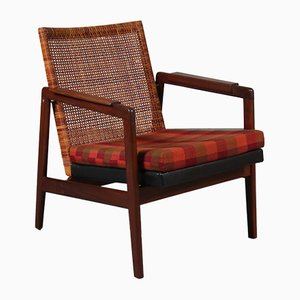Teak & Rattan Easy Chair by P.J. Muntendam for Gebroeders Jonkers, 1960s