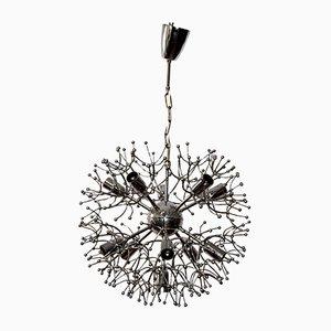 Lámpara Sputnik de cromo de Gaetano Sciolari, años 60