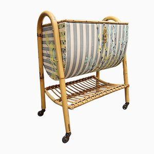 French Bamboo Sewing Cart, 1960s