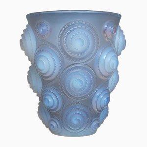 Vaso nr. 1060 Spiral vintage di René Lalique, anni '30