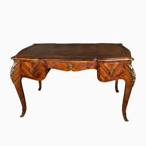Antique Louis XV Style Rosewood & Bronze Desk