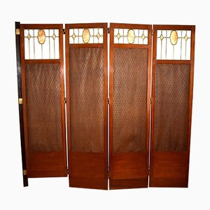 Antique Viennese Art Nouveau Folding Screen