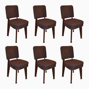 Vintage Side Chairs by Maison Dominique for Prouvé, 1960s, Set of 6
