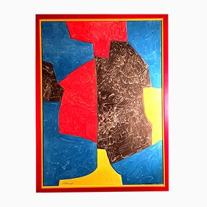 Abstract Composition Lithograph by Serge Poliakoff, 1950s