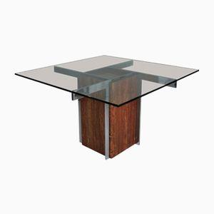 Moderner Esstisch aus Marmor & Chrom, 1960er