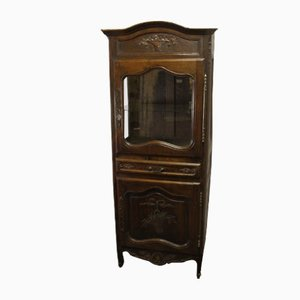 Oak Cabinet with Display Case, 1910s