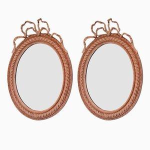 Espejos franceses antiguos pintados. Juego de 2