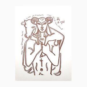 Lithographie Originale The Savior par Jean Cocteau, 1958