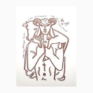 The Savior Original Lithograph by Jean Cocteau, 1958