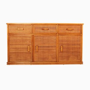 French Rattan Buffet, 1970s