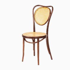 Sedia vintage in legno curvato e vimini di Michael Thonet per ZPM Radomsko