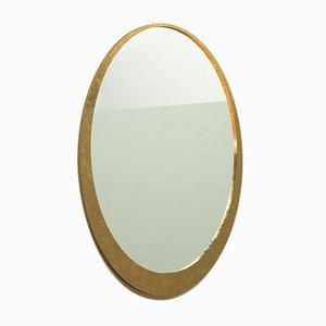 Specchio Orbit dorato di Alessandro Bergo per Metallofficina
