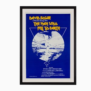 Vintage British David Bowie The Man Who Fell To Earth Poster by Vic Fair, 1976
