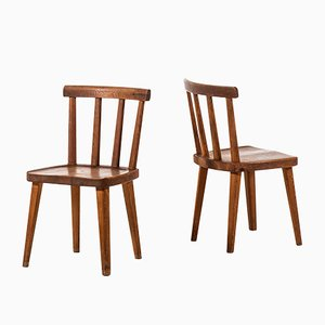 Vintage Utö Dining Chairs by Axel Einar Hjorth for Nordiska Kompaniet, Set of 2