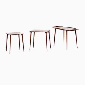 Tavolini ad incastro di Jens Quistgaard per Nissen, 1964