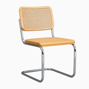 S32 Beech Cantilever Chair by Marcel Breuer for Thonet, 1985
