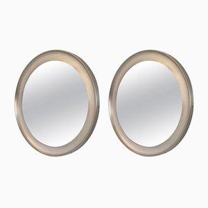 Specchi rotondi di Sergio Mazza per Artemide, anni '50, set di 2