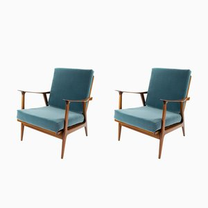 Teak Armchairs from AG Barcelona, 1960s, Set of 2