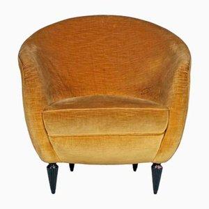 Sessel aus Samt von Gio Ponti, 1938