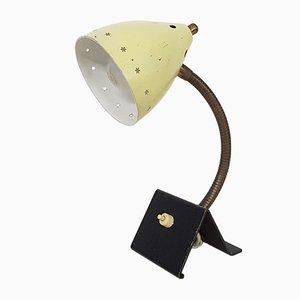Lámpara de escritorio amarilla de H. Th. JA Busquet para Hala, años 50