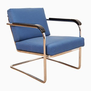 Vintage Modell 1435 Freischwinger Armlehnstuhl von Moser für Embru