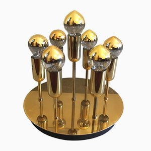 Brass Sputnik Wall or Ceiling Lamp from Cosack, 1960s