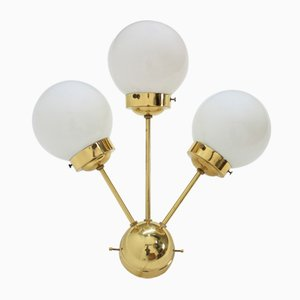 Brass Sputnik Wall Lamp from Drukov, 1970s