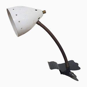 Lámpara de grapa blanca de H. Th. JA Busquet para Hala, años 50