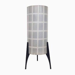 Lámpara de mesa de vidrio y metal de Philips, años 50