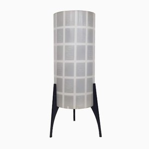 Tischleuchte aus Glas und Metall von Philips, 1950er