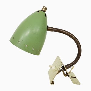 Green Desk Lamp by H. Busquet for Hala, 1950s