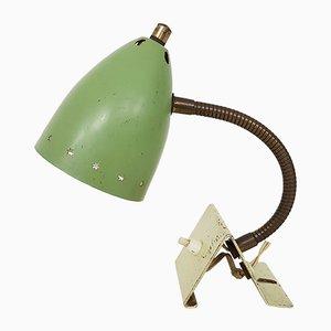 Lampada da scrivania verde di H. Busquet per Hala, anni '50
