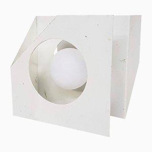Lámpara era espacial de metal blanco de Dijkstra Lampen, años 60