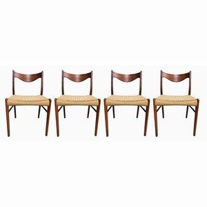 Chaises de Salon par Arne Wahl Iversen pour Glyngøre Stolefabrik, 1960s, Set de 4