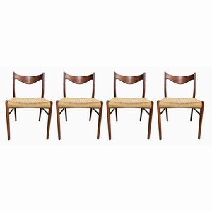 Esszimmerstühle von Arne Wahl Iversen für Glyngøre Stolefabrik, 1960er, 4er Set