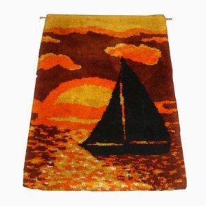 Vintage Orange-Brown Carpet, 1970s