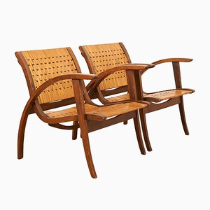Gelenka Beech Armchairs by Erich Dieckmann for Gelenka Thüringen, 1930s, Set of 2